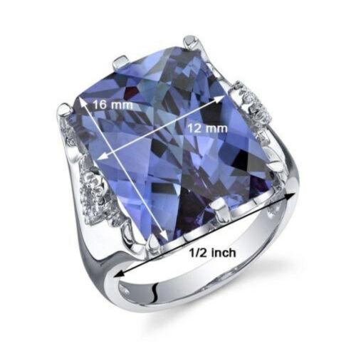 Large Tanzanite Purple Gemstone Ring Silver Women/'s Engagement Wedding Jewelry