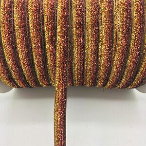 New-DIY-5-yards-3-8-034-10mm-Velvet-Ribbon-Headband-Clips-Bow-Decoration-NO18