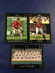 2007-Topps-51-172-233-CARLOS-LEE-MORGAN-ENSBERG-Team-Picture-Lot-3-Astros