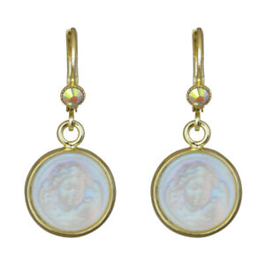 Kirks-Folly-Glass-Dream-Angel-Leverback-Earrings-Goldtone-with-Gift-Box