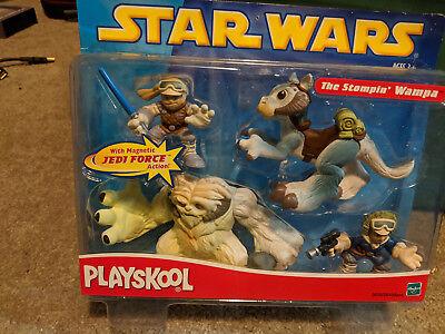 2002 Playskool Star Wars Jedi Force The Stompin Wampa Figure Set New by Hasbro