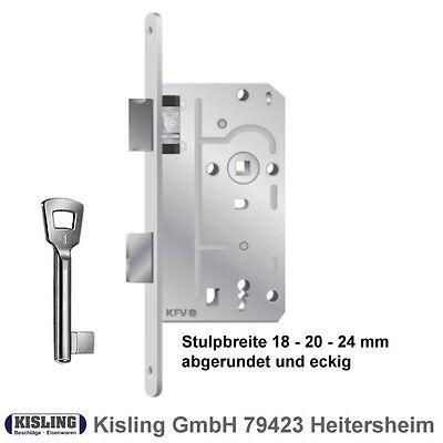 Buntbartschloss 104 1//2 silber BB Türschloss Einsteckschloss KFV Stulp 18 20 24