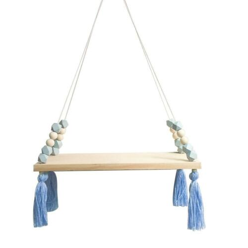 Nordic Wall Wooden Hanging Board Ornaments Roomcoration with Beads/_Tassels
