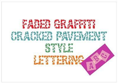Upper /& or Lower case Letter Stencil Tiles or Sheet 350 Micron Mylar FONT014