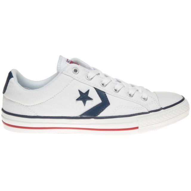 2f6ad68a762b33 Converse Star Player Ox Unisex Trainers White Navy Shoes 10 UK for ...