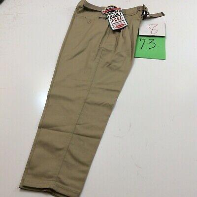 Boys Khaki Pants Flat Front Genuine School Uniforms Sizes 4 to 20