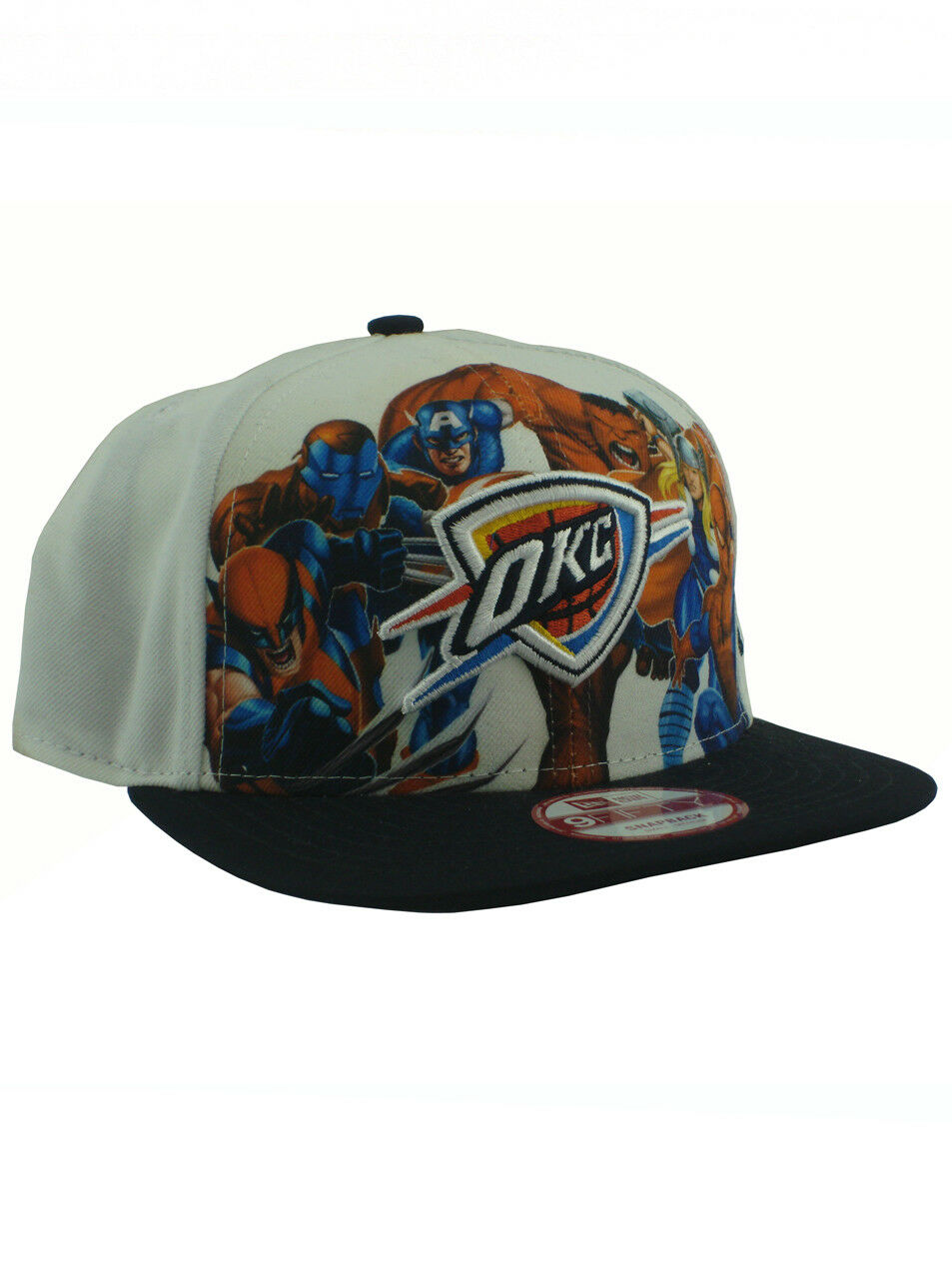 sneakers for cheap 225af 01835 ... store new era nba oklahoma city thunder 59fifty marvel fitted hat okc  adjustable marvel 59fifty white