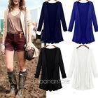 Womens Oversize Long Sleeve Cardigan Open Front Solid Casual Loose Sweater NEW