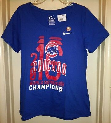 new concept ad915 a2452 Nike Chicago Cubs World Series Champs Scoop T-Shirt Womens ...