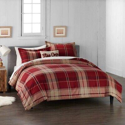 Acquista A Buon Mercato Cuddl Duds Casa Rosso Plaid Flanella Comforter Set - 4 Pezzi - Full / Queen