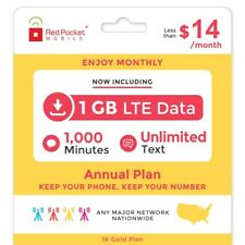 Red Pocket 1 Year Prepaid Wireless Phone Plan - No Contract, SIM Kit Inc.