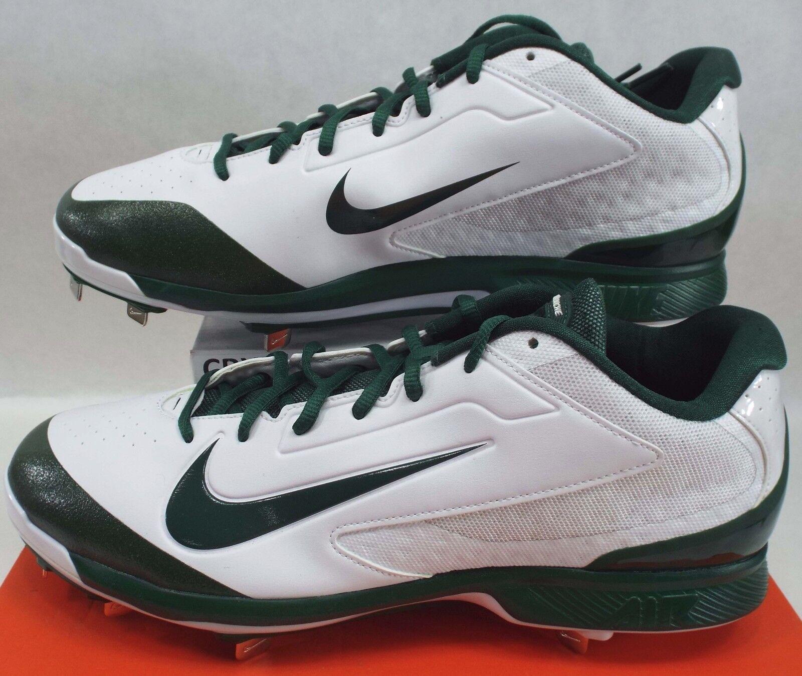 Nuevo Mens 13 Nike Air Huarache Pro Baja Botines De Metal blancoo verde 654854-130