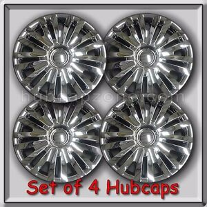 vw volkswagen golf replacement hubcaps set  chrome wheel covers ebay
