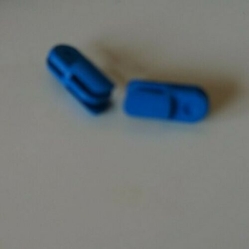 2X LEGO 3612 Blue Arm Piece Straight with 2 and 3 Fingers