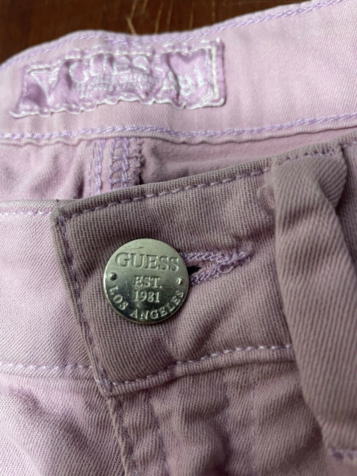 Womens Guess Britney Skinny Jeans Pink Size 27  - image 3