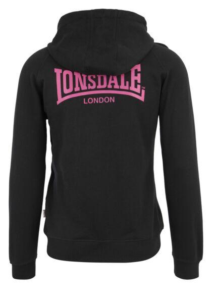 Lonsdale Seagrave Ladies Hooded Zipsweat Kapuzenpullover Black Schwarz Hoodie