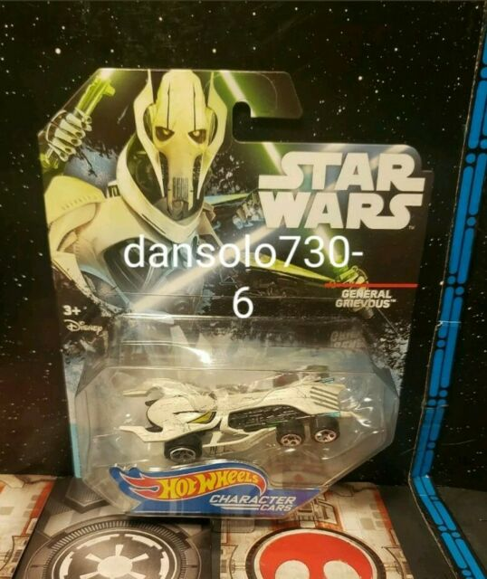 DISNEY HOT WHEELS STARWARS CHARACTER CARS GENERAL GRIEVOUS COLLECTIBLE FIGURE