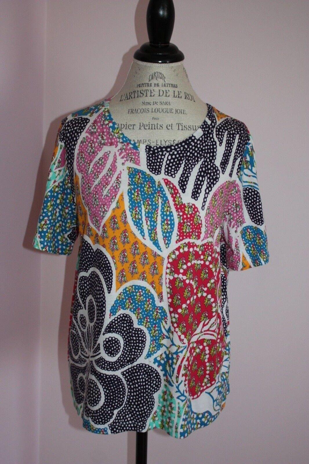 NEW  damen DVF Diane Von Furstenberg Val Printed Top Shirt Größe Large