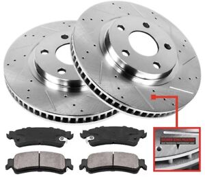 Front Drill Slot Brake Rotors For CHEVY IMPALA MONTE CARLO BUICK LUCERNE