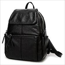 8fdfdb452551 item 1 Women s Genuine Leather Black Backpack Satchel Rucksack Shoulder School  Bag -Women s Genuine Leather Black Backpack Satchel Rucksack Shoulder School  ...