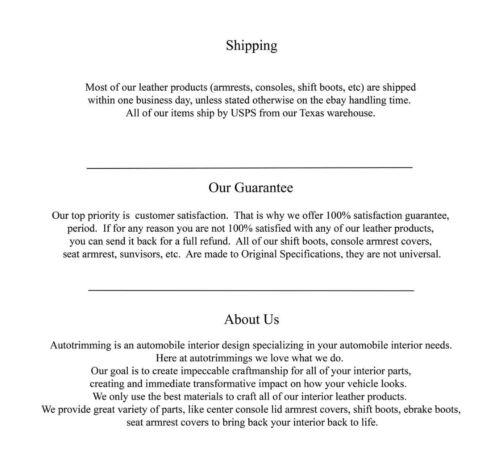 Bota de Freio e Couro Sintético Para Ford Mustang 10-14 Cinza Stitch