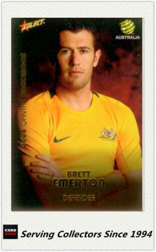2008-09 Select A League Socceroos Card SR13 Brett Emerton