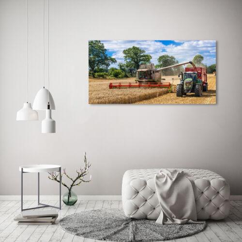 Wandbild aus Plexiglas® Druck auf Acryl 120x60 Fahrzeuge Mähdrescher Traktor