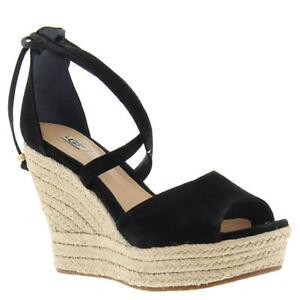 758c469ed41 Details about UGG Women's Reagan Black Sandal 9 M