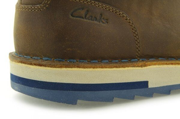 Clarks  MUMFORD KEY  LOOKS LEATHER WALLABEES  TOBACCO LEATHER LOOKS  UK 7,8,9,10,11 G c559eb