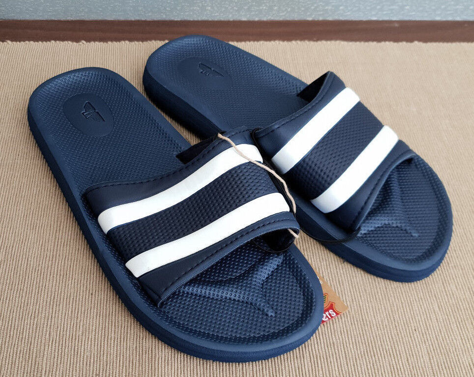 e42972aabe903a BNWT Mens Rivers Size 8 Navy Navy Navy Stripe Slides Flip Flops Sandals  Beach Casual Shoes