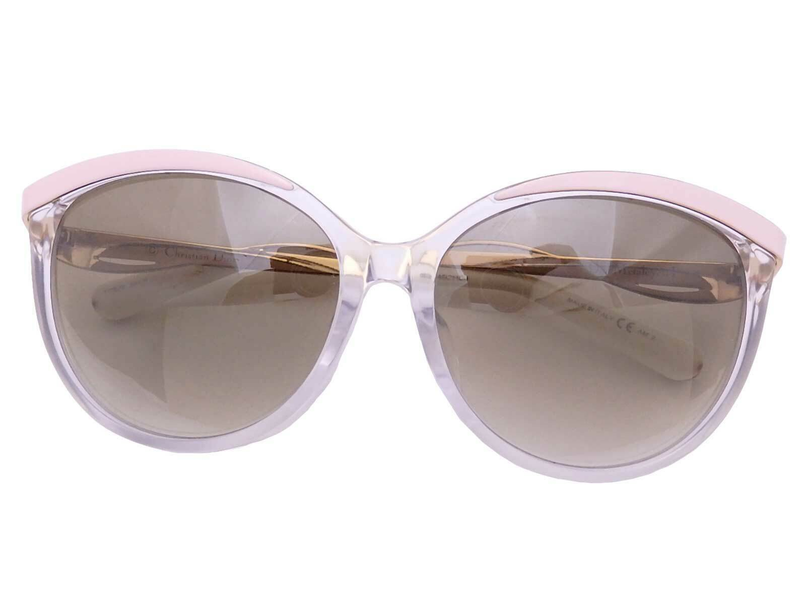 Auth Christian Dior Sunglasses Pink/Yellow/White Gradation Brown - e47372a