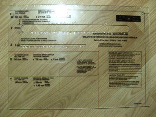 Mail template Letter Slot Size Poste Canada Post Original CPC Gauge Ruler Custom