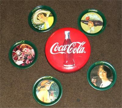 "NOS Vintage Kept Approx 5//8"" Mini Coca Cola Marbles Set Of 5"