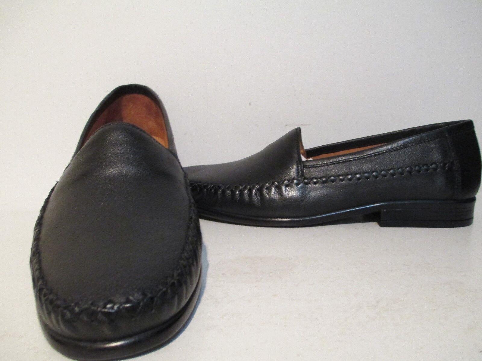Giorgio Brutini Mens Mortoni 67134 Leather Slip On Casual Loafers Black Size 13