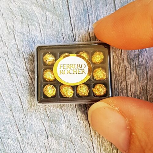 Box Of Chocolate Ferrero Rocher Dollhouse Miniatures Sweet Valentine's Day Gift