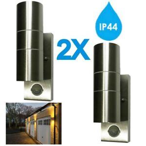 2x-hispec-DEL-Externe-Mur-Lumiere-PIR-mouvement-capteur-Up-Down-GU10-a-faible-consommation-d-039