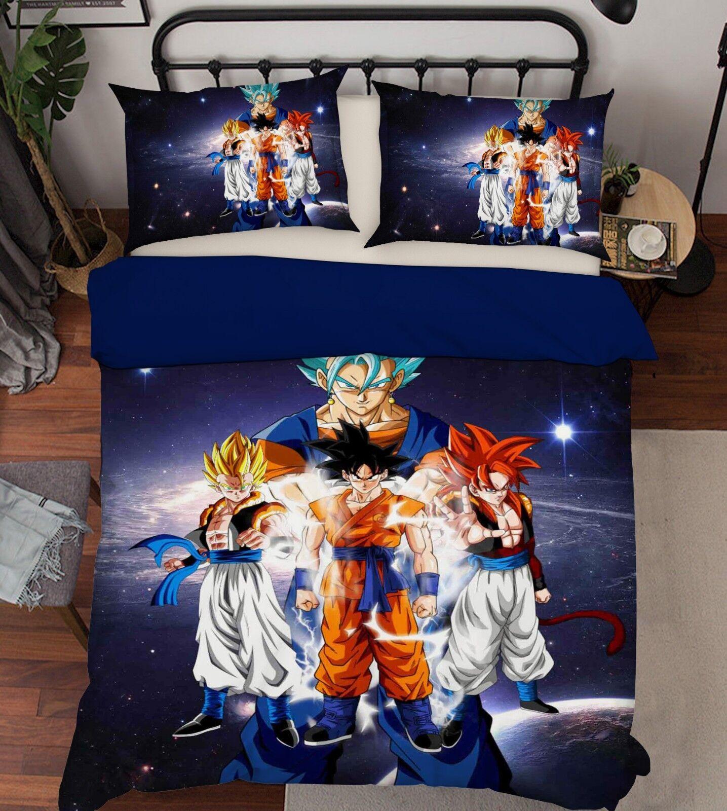 3D Japan Anime 4449 Bed Pillowcases Quilt Duvet Cover Set Single Queen King AU