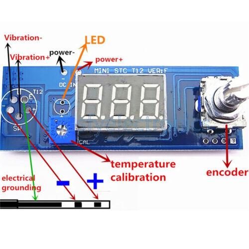 Diy Soldering Iron Station Temperature Controller Digital for HAKKO T12 Handle