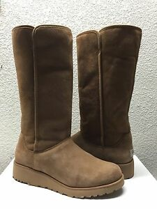 dbb4d4d2b2c Details about UGG KARA CLASSIC TALL SLIM CHESTNUT SUEDE WEDGE BOOT US 10 /  EU 41 / UK 8.5 NEW