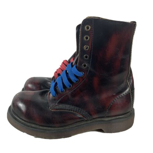Doc Martens Oxblood Leather 10-Eye Combat Boots Ra