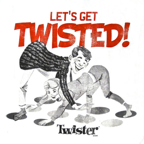 Twister Let/'s Get Twisted Hasbro Game Men/'s T-shirt