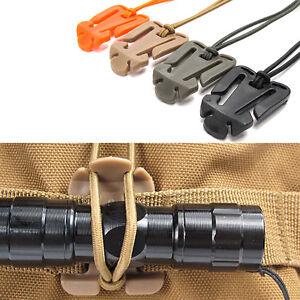 2Pcs Dominator Elastic Cord Hang Buckle Clip PALS MOLLE Style Webbing TK