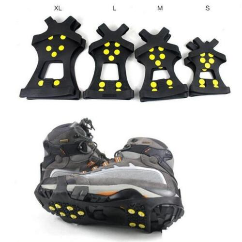 Anti Slip Crampons Ice Grips Snow Climbing Shoe Spike Cleats Shoes Cover CB