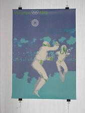 Poster Plakat - Fechten DINA1 - olympische Spiele 1972 München - Otl Aicher