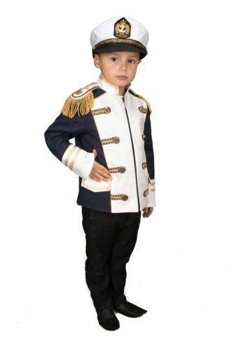 Matrose Kinder Jacke Kapitän Kostüm Jungen Karnevalskostüm Karneval  Fasching