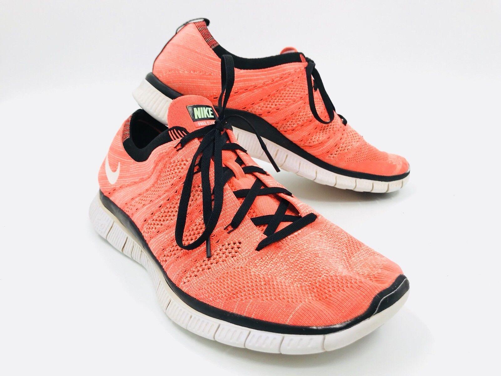 Nike Free Flyknit NSW Hot Lava Orange Mens Running Shoes Comfortable