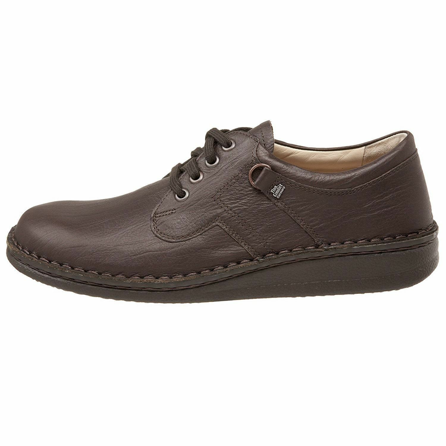Finn Comfort Mens Vaasa Coffee Leather shoes