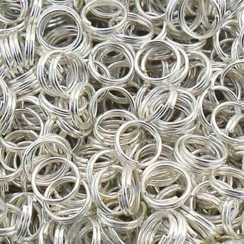 6mm Silber Farbe 150 Doppel Metallringe