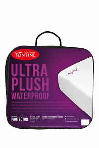 Tontine Ultra Plush Coral Fleece Mattress Protector QUEEN Bed RRP $159.95