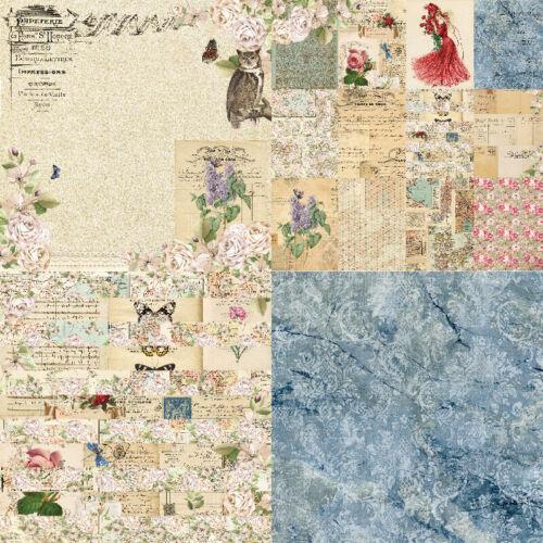 6/'/' Vintage Flower Paper Pad Scrapbooking Photo Album Card Journal DIY Craft